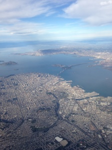 Pretty awesome shot of San Francisco as we were flying home